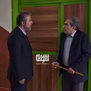 خشایار راد و محمود مقامی در تله فیلم «بچه های کلاس هشتم»