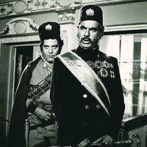 جمشید مهرداد و ناصر ملک مطیعی در فیلم «شیخ صالح»