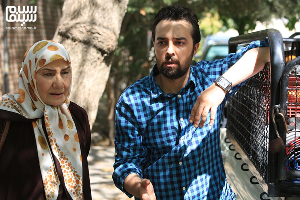 فریده سپاه منصور و محمودرضا قدیریان در سریال «برنا»